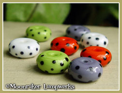 Black Spotted Halloween Spacers