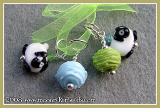Blue/Green Stitch Markers