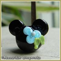 Aqua Blue Flower Mouse Ears