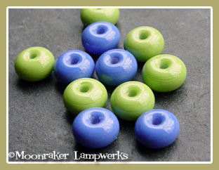 Lime/Dark Periwinkle Spacers