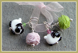 Pink/Green Stitch Markers