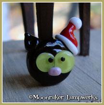 Christmas Black Kitty Head