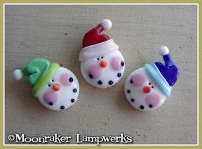 Snow Hat Snowmen Heads